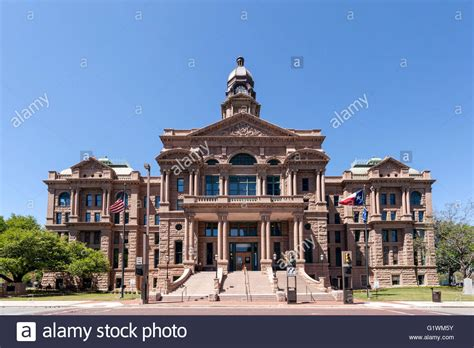 Tarrant County Tx Court Records Historic Tarrant County Courthouse From 1895 Fort Worth Usa Stock Photo