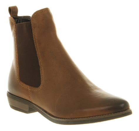 womens office dallas chelsea boot brown leather boots