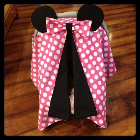 Minnie Mouse Car Seat Canopy by Minnie Mouse Car Seat Canopy Pink And White Polka Dot