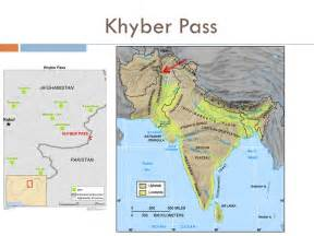 middle east map khyber pass south asia physical features ppt