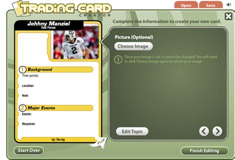 free card maker template techy things teachers should try trading card creator