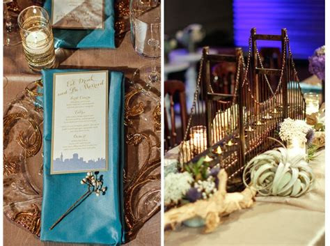 san francisco themed decorations san francisco theme wedding with cityscape menus and brass