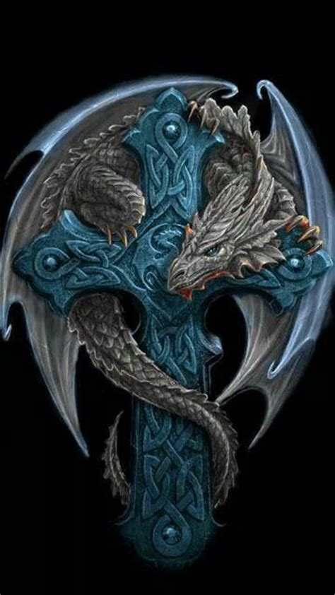 dragon with cross tattoo best 25 celtic tattoos ideas on celtic