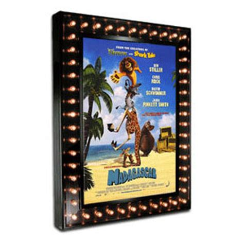 lighted  marquee poster case  chase lights home