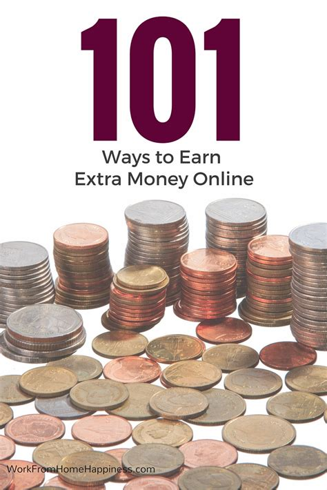 Online Jobs To Make Extra Money - 101 ways to earn extra money online work from home happiness