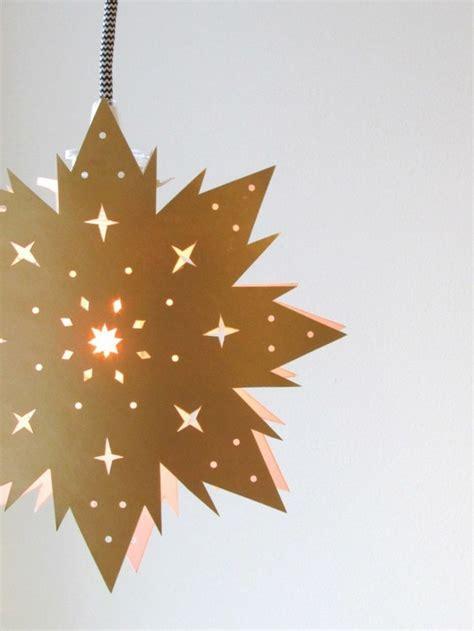 Fensterbilder Weihnachten Goldene Sterne by 123 Ideen Weihnachtssterne Basteln Archzine Net
