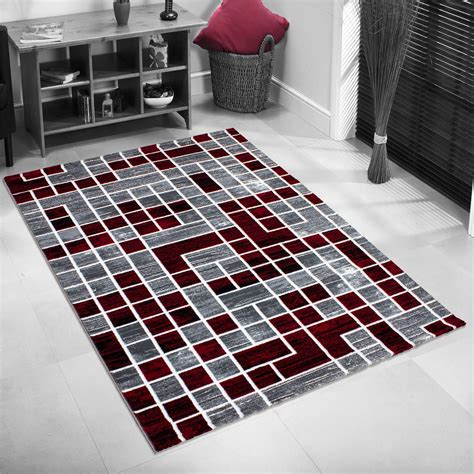 quality rugs for less new modern contemporary squares border pixel black grey purple quality rugs ebay