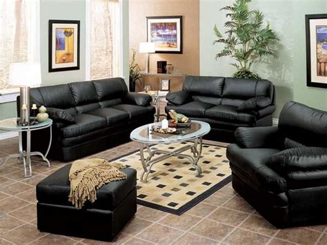 black leather sofa decorating pictures centerfieldbar