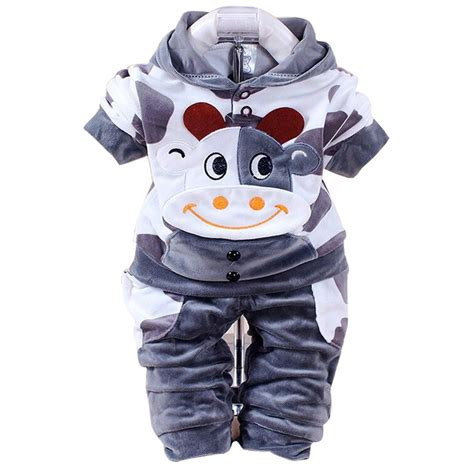 Set Hoody Kaos Welcome Cow aliexpress buy new arrival boys clothes set autumn fleece sports clothing set cow
