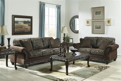 Traditional Sofas Living Room Furniture Traditional Style Brown Sofa Seat Living Room Furniture Set
