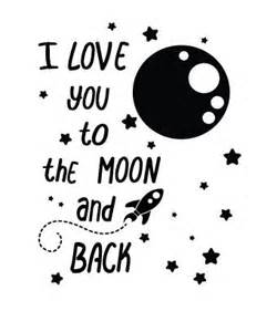 muursticker i love you to the moon and back walldesign56 com