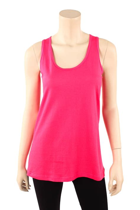 Top Fit To L womens fit tank top 100 cotton relaxed flowy basic sleeveless shirt s m l ebay