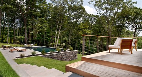 Deck Architecture by Wooden Deck Balcony Steps Pool Terrace Wood And Glass