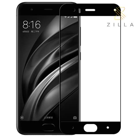 Xiaomi Mi 6 Mi6 Dual Tempered Glass Warna 2 5d Coverage zilla 2 5d carbon fiber tempered glass 9h 0 26mm for