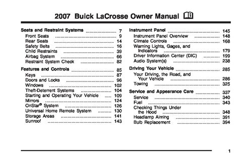 2007 buick lacrosse owners manual just give me the damn manual
