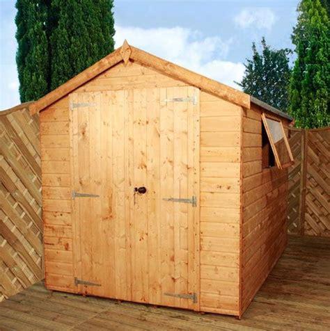premium apex 6 x 8 t g shiplaplap garden shed hortons