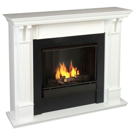 real 48 in gel fuel fireplace in white 7100