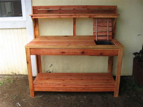 outdoor potting bench with sink potting bench with sink outdoor potting table with sink