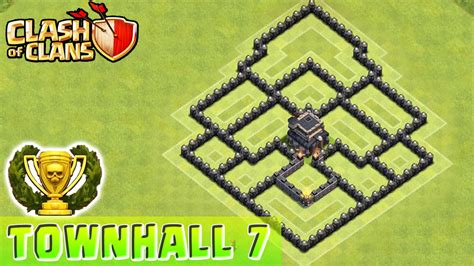clash of clans layout strategy level 7 clash of clans defense strategy townhall level 7 base