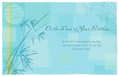 comforting words for death of a brother loss of brother greeting card sympathy printable card