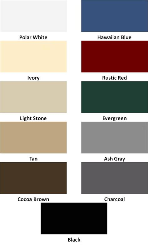 metal paint colors metal buildings and carports color choices