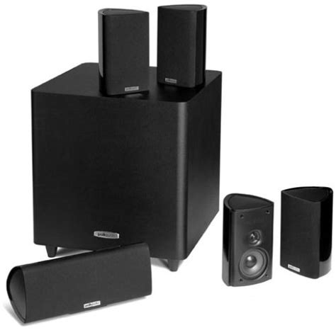polk audio rm705 5 1 home theater system set of six