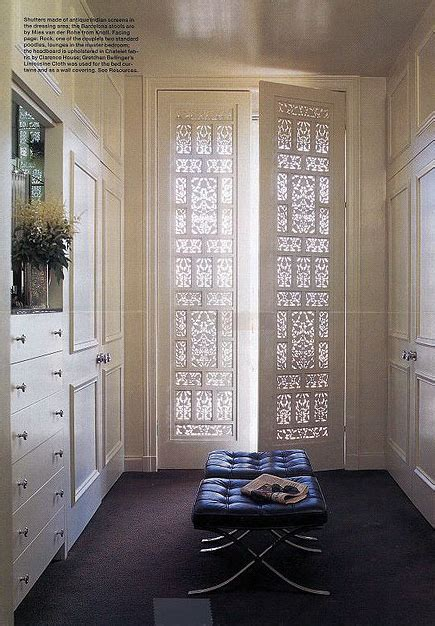 Beautiful Closet Doors Lattice Doors Transitional Closet Fisher Weisman Interior Design