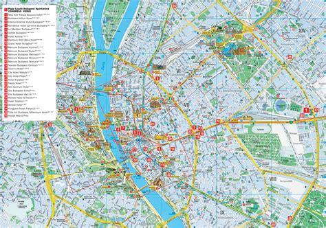 printable map budapest budapest hotel map budapest hungary mappery