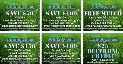 johnson s inc landscaping coupons
