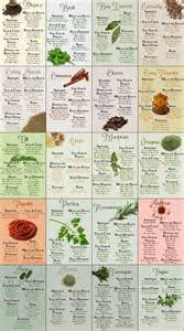 herbs chart herb spice chart common sense evaluation