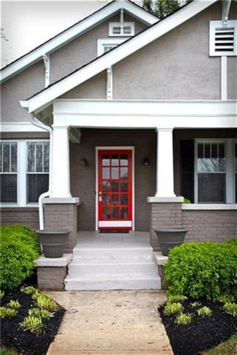 grey house with red door gray house apple red door home exterior pinterest