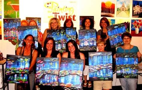 paint and twist houston painting with a twist cypress offers discount to teachers