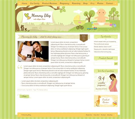 related keywords suggestions for mommy blogger templates