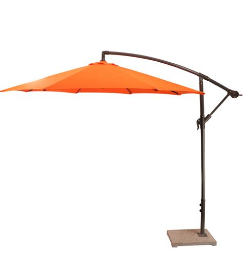 Buy Outdoor Luxury Side Pole Patio Umbrella In Orange Orange Patio Umbrella