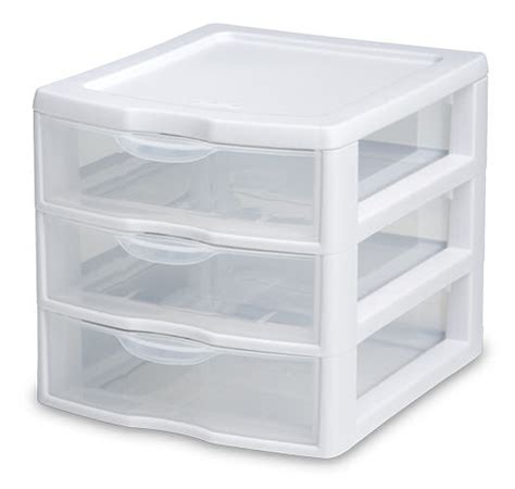 Small Drawer Storage by Sterilite 2073 Small 3 Drawer Unit
