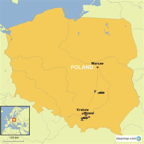 printable map of zakopane poland insight warsaw and krakow with extension option
