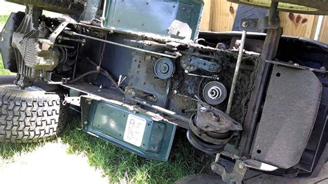 change replace main transmission drive belt