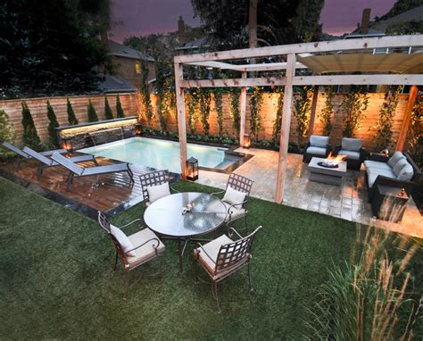 outdoor living spaces with pool outdoor living space
