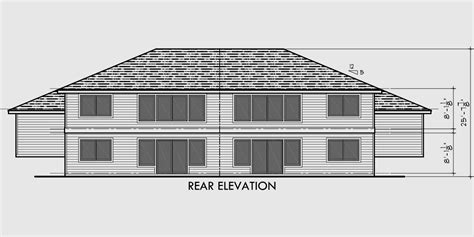 side split house plans duplex house plans split level duplex house plans d 492