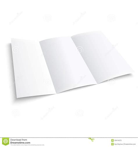 Three Fold Paper - blank trifold paper brochure stock photos image 33414573