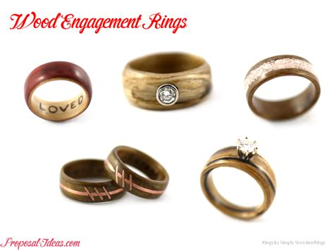 alternative engagement rings wood ideas