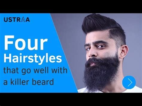 hairstyles that go well with beards 4 hairstyles that go well with a killer beard youtube