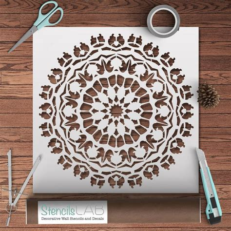 stencils for home decor mandala style stencil for decoration diy decor wall