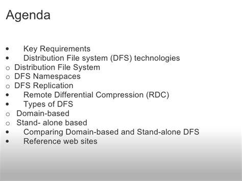 distribution file system dfs technologies