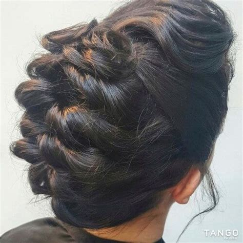 indian hairstyles with puff topsy tail juda with puff clips and accessories