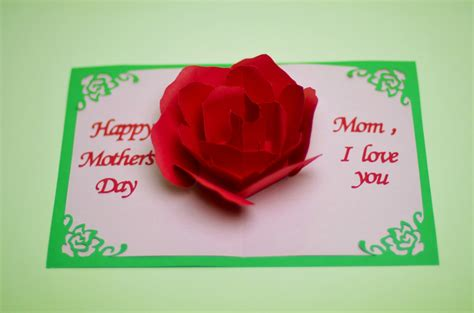 fiy mothers day pop up card template flower pop up card template creative pop up cards