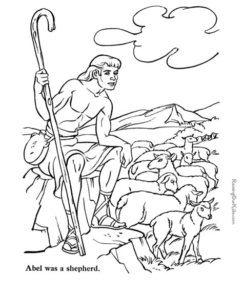 cain and abel coloring page coloring home