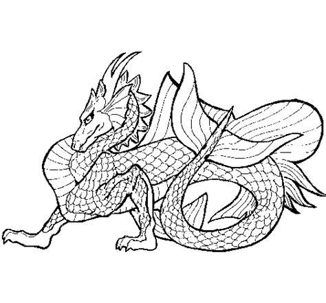 dibujos para colorear de dragon city dibujo de drag 243 n de mar para colorear dibujos net