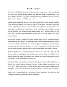 Heros Quest Essay by Beowulf A Tragic