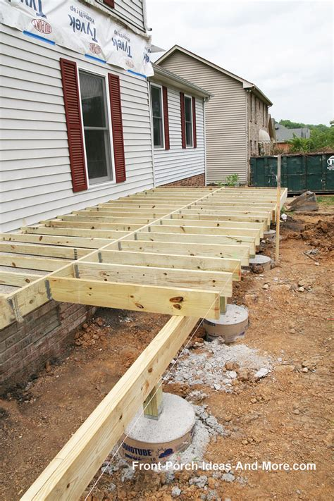 Patio Cover Post Footing by Porch Foundations Porch Repairs Porch Footing